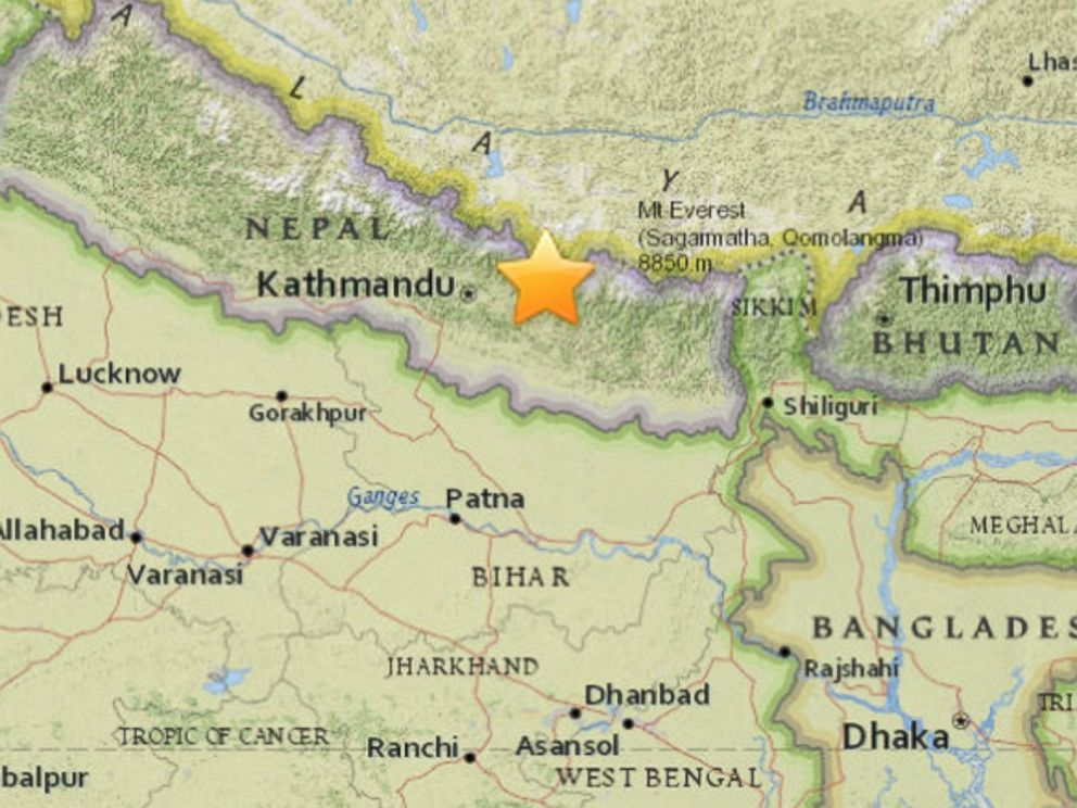 Nepal Another Deadly Earthquake Strikes Country Epicenter Near - What country is nepal in