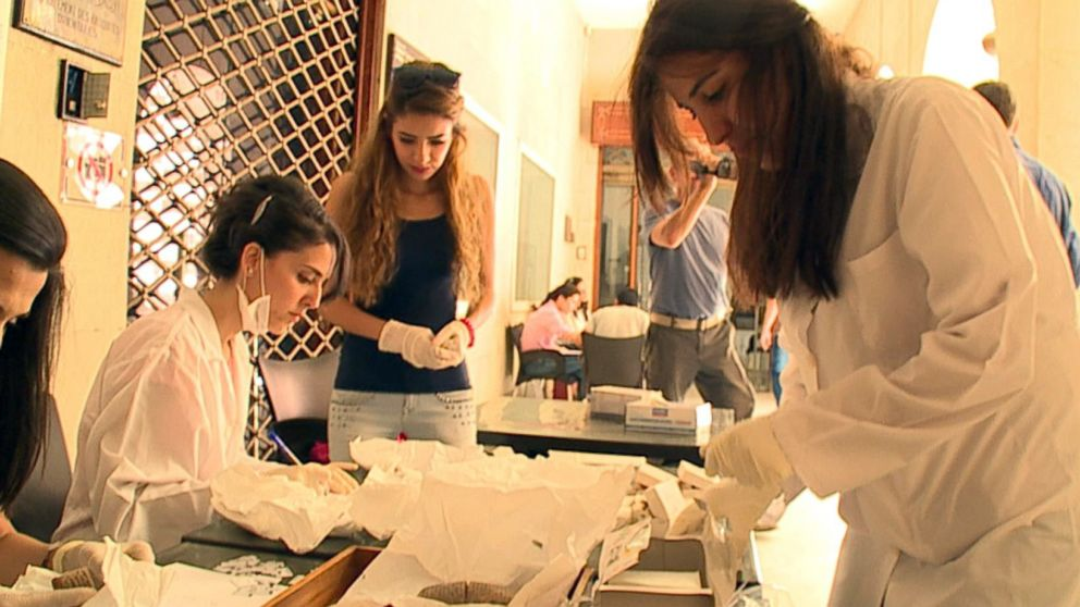 A group of young archaeologists are working to quickly document, measure and photograph every item in the National Museum of Damascus' collection.