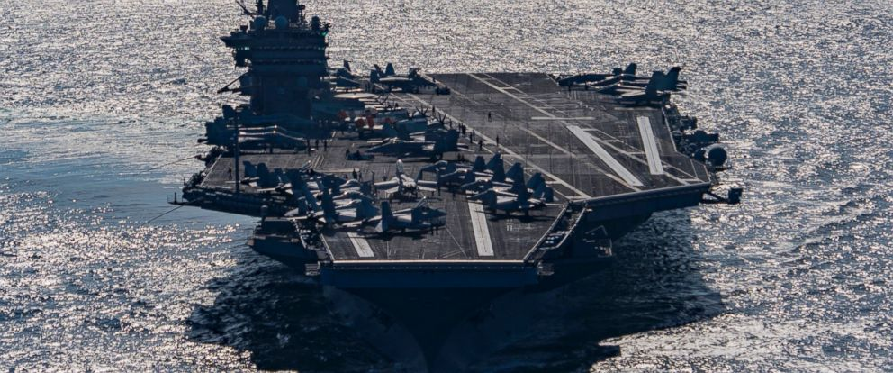 PHOTO: Aircraft carrier USS Harry S. Truman transits the Gulf of Oman on Dec. 25, 2015.