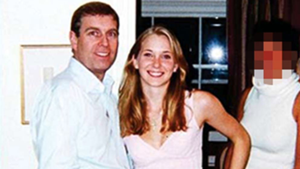 A woman who alleges in court papers that she was an underage sex slave for VIPs including Britain's Prince Andrew is seen pictured here with the prince.