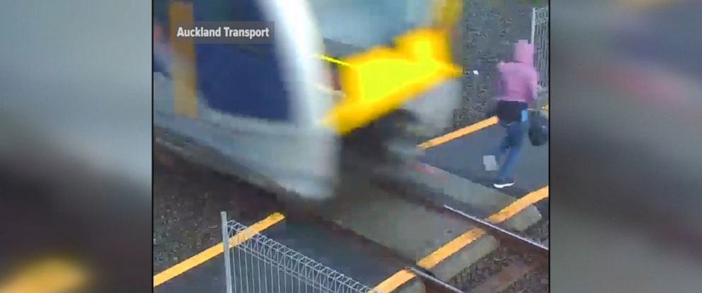 PHOTO: Quiet electric trains in New Zealand present a new danger for pedestrians.