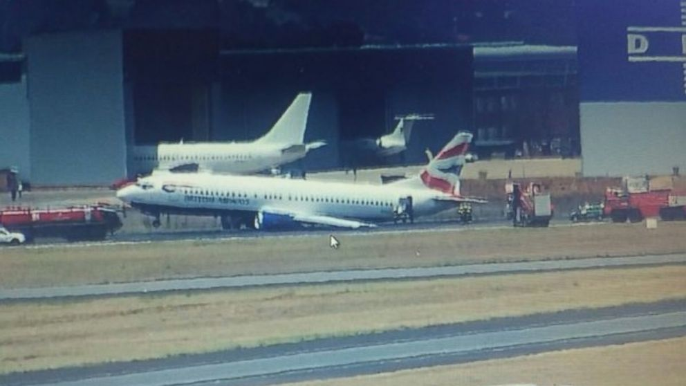 See British Airways Flight That Tipped to Its Side on Runway