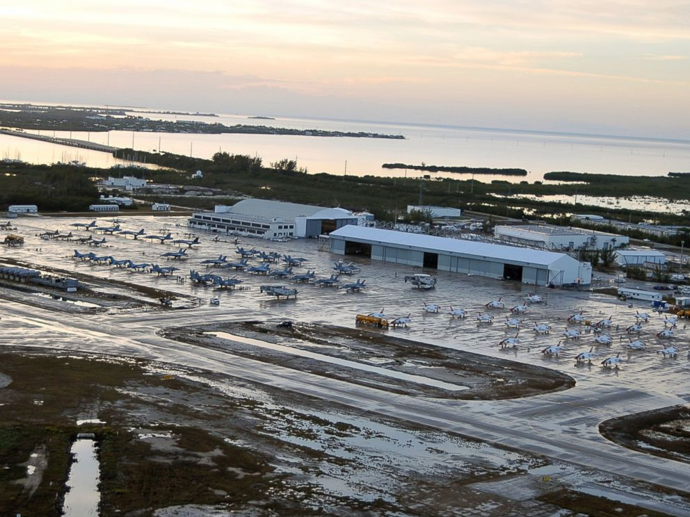 PHOTO: More than 70 aircraft fill Naval Air Station Key West Boca Chica Fields ramp at sunset, Jan. 21, 2014.