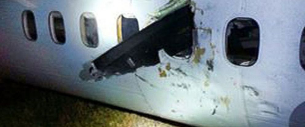 PHOTO: A photo of a propeller that crashed through a window on an Air Canada flight, Nov. 6, 2014, has surfaced on social media.