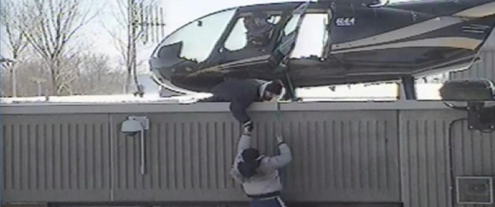 PHOTO: Recently released video shows two inmates escaping from a Canadian prison with the help of friends and a hijacked helicopter.