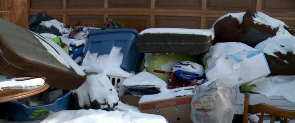 "PHOTO: A married couple from Ottawa, Canada, said they woke up on March 2, 2016, to find ""the entire contents of a strangers home"" on their driveway."