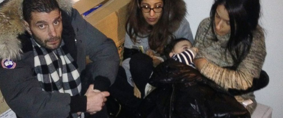PHOTO: People are seen here in a freezer during a standoff at a Kosher market in Paris, Jan. 9, 2015.