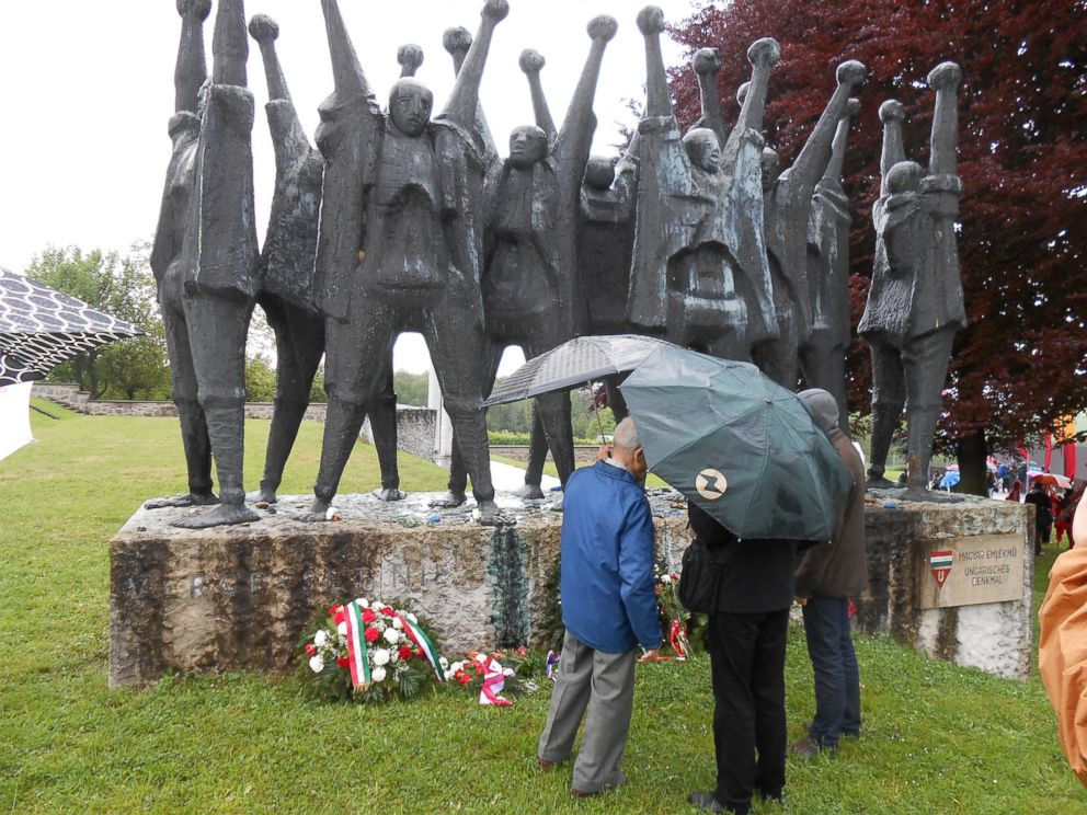 PHOTO: Ferenczis family at the Hungarian Liberation memorial.