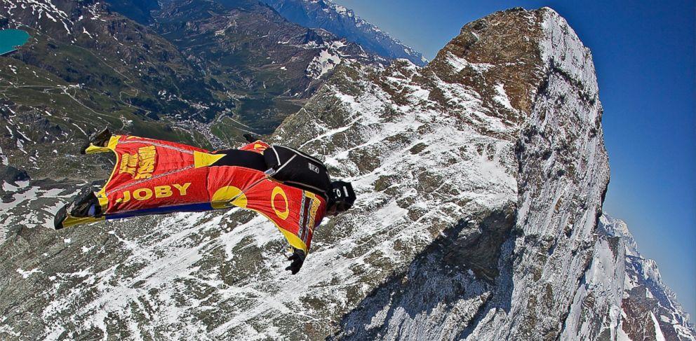 PHOTO: Joby jumps over the peaks of the Matterhorn in Switzerland, 2009.