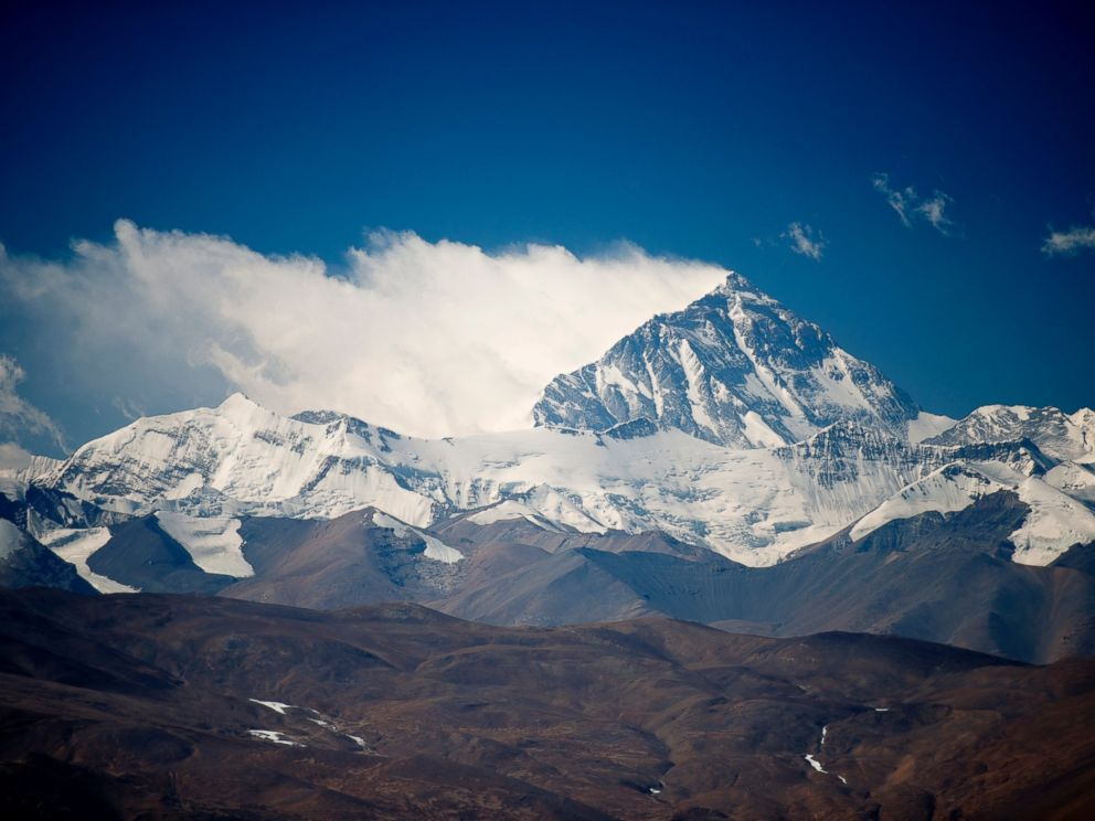 PHOTO: Mount Everest is pictured before the USX Veteran Everest Expedition is set to climb.