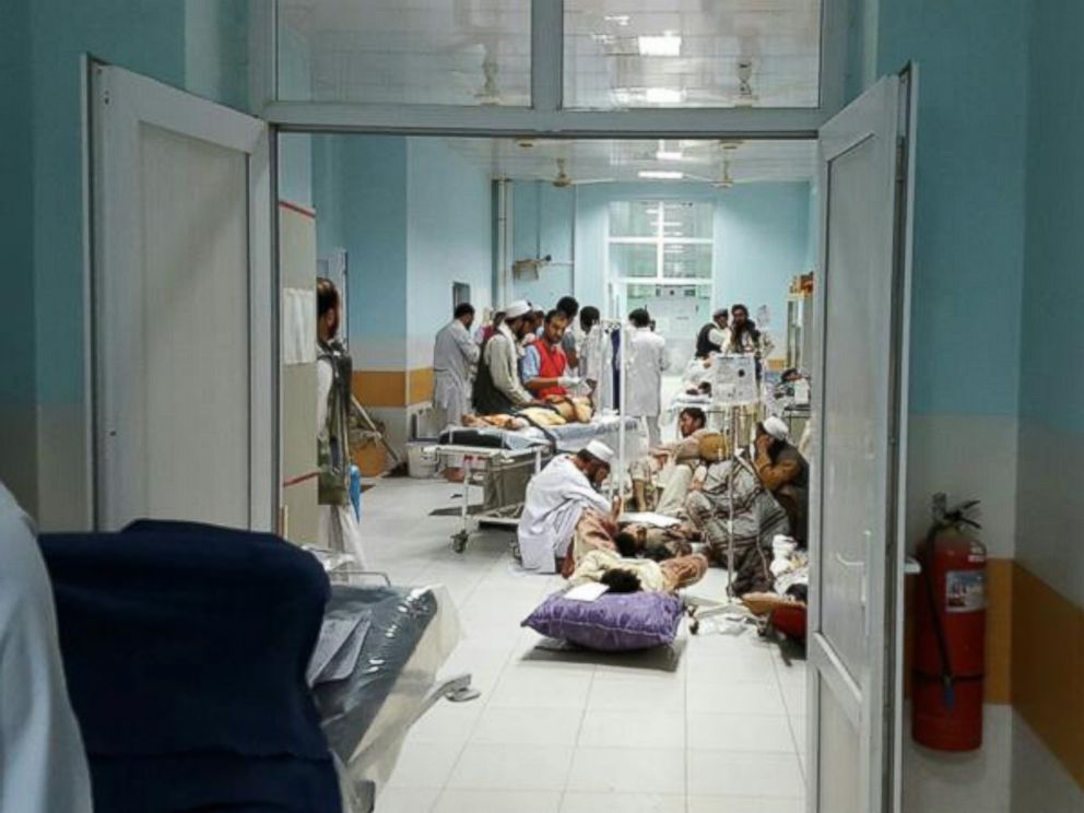 PHOTO: @MSF_Press posted this photo to Twitter on Oct. 2, 2015 with the caption,This was #MSFs trauma hospital in #Kunduz earlier this week, where staff treated 300+ injured in violence.