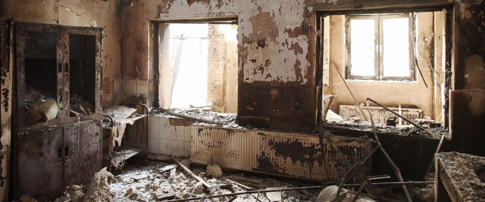 PHOTO: This photo shows the devastating destruction inside MSF/Doctors Without Borders hospital hit by U.S. air strikes in Kunduz, Afghanistan.