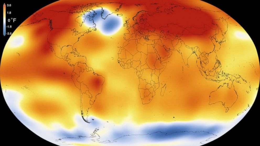 2015 was the warmest year since modern record-keeping began in 1880, according to a new analysis by NASA's Goddard Institute for Space Studies.