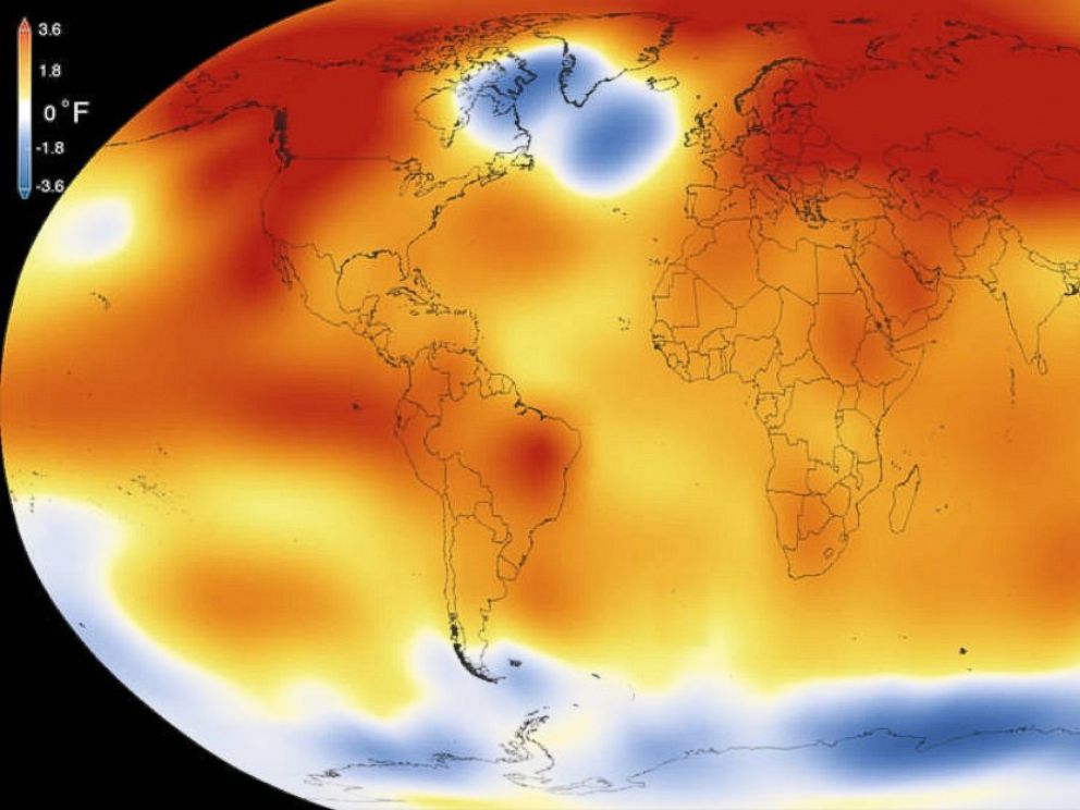 PHOTO: 2015 was the warmest year since modern record-keeping began in 1880, according to a new analysis by NASA's Goddard Institute for Space Studies.