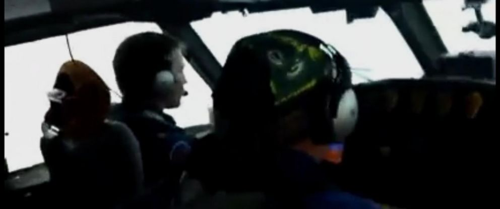 PHOTO: This video posted via Facebook captures a pilot heading towards Hurricane Patricia.