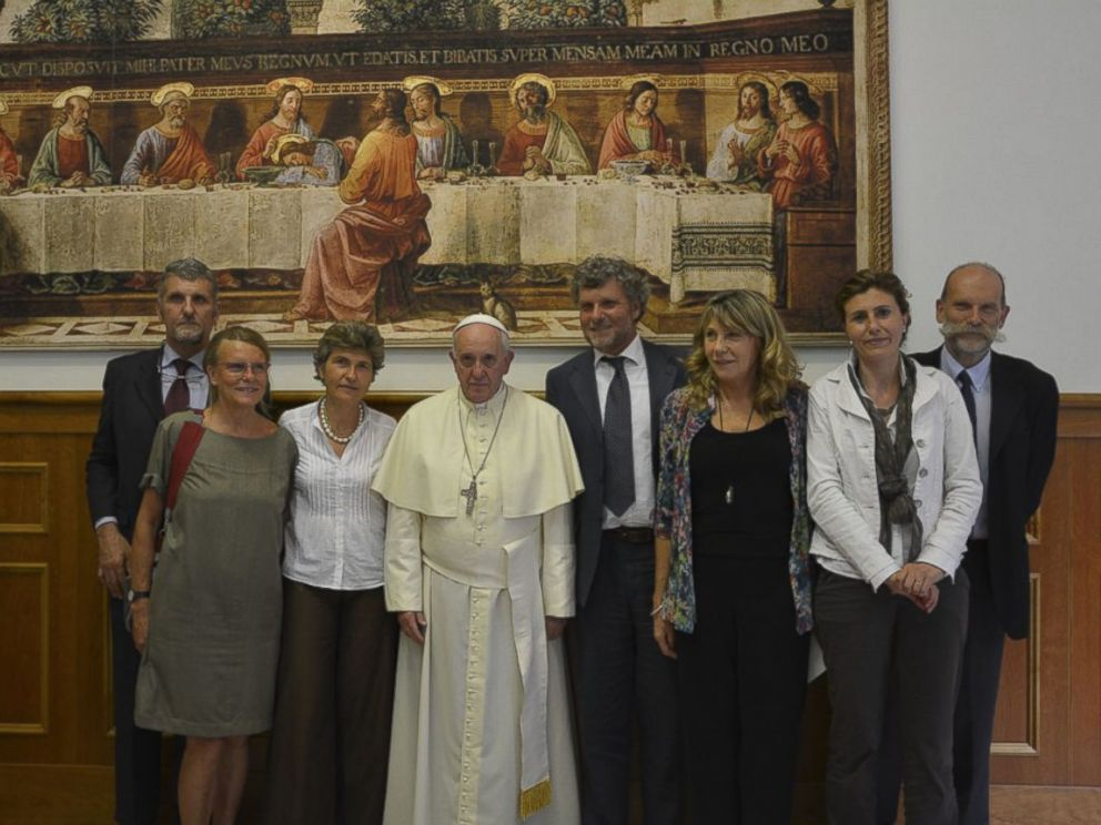 PHOTO: This photo from sjweb.info shows Pope Francis at the Jesuit Curia in Rome on July 31, 2014.
