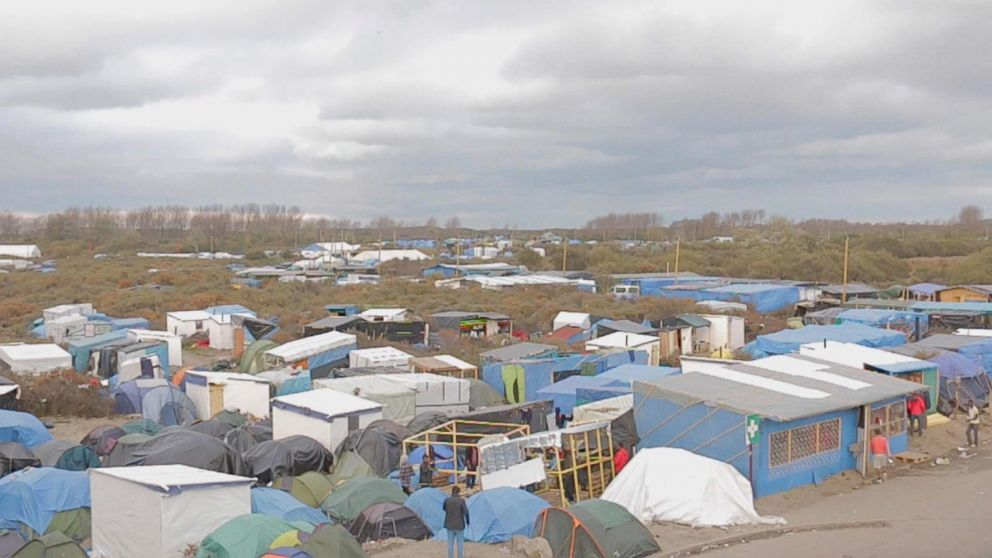 ABC News spent a day with migrants and refugees in Calais, northern France.