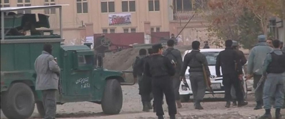 PHOTO: Reuters video shows the aftermath of an attack on a guest house in Kabul