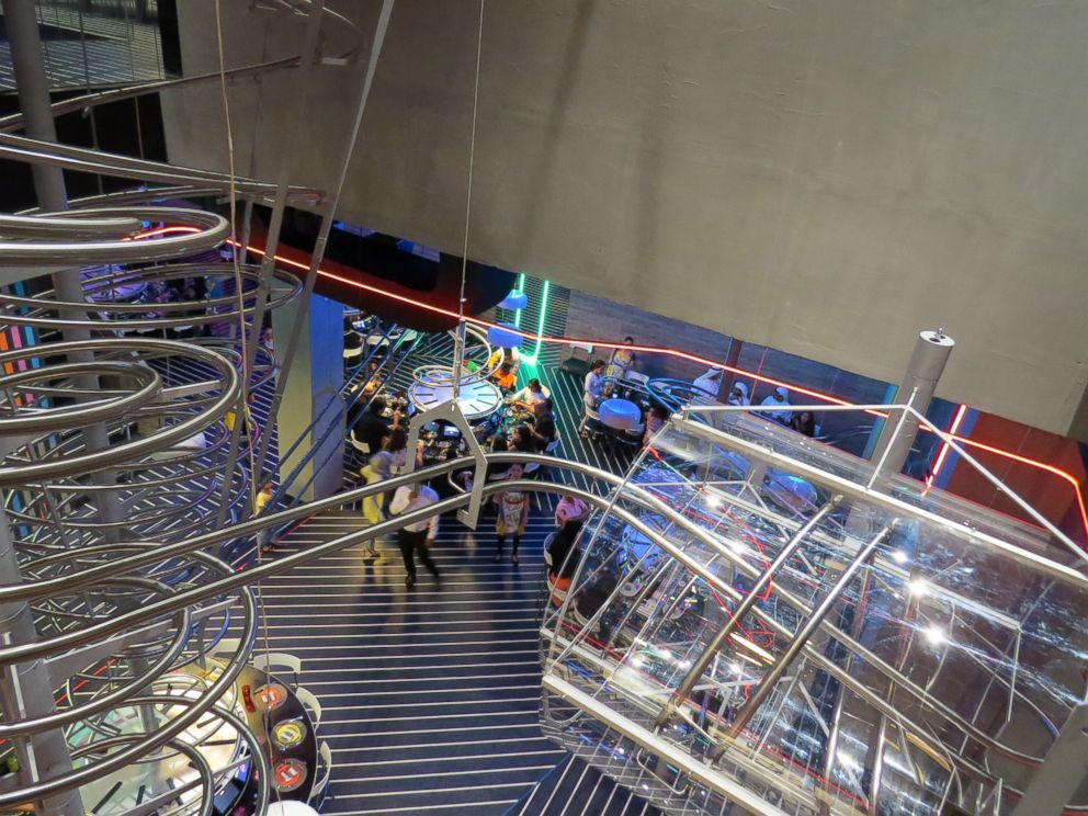 PHOTO: A new roller coaster restaurant called ROGOs has opened at the Yas Mall in Abu Dhabi, United Arab Emirates.