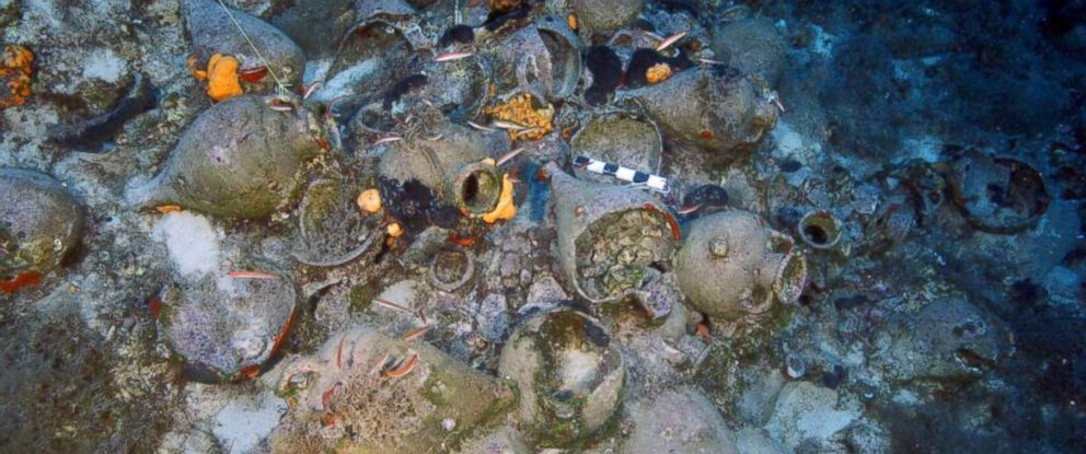 PHOTO: Archaeologists discovered 22 shipwrecks in the Greek islands of Fourni over the course of two weeks at the end of September.