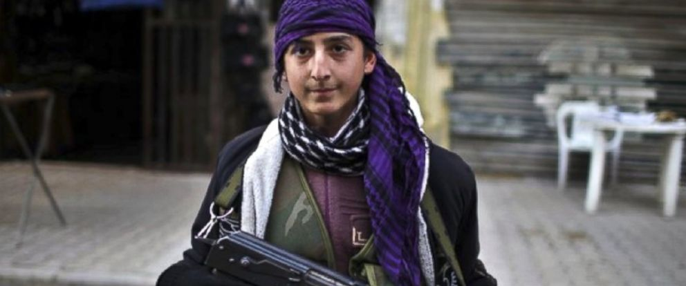 PHOTO: Umm Omar says her son Mohammed, 16, has been sold to a rebel brigade and forced to fight.