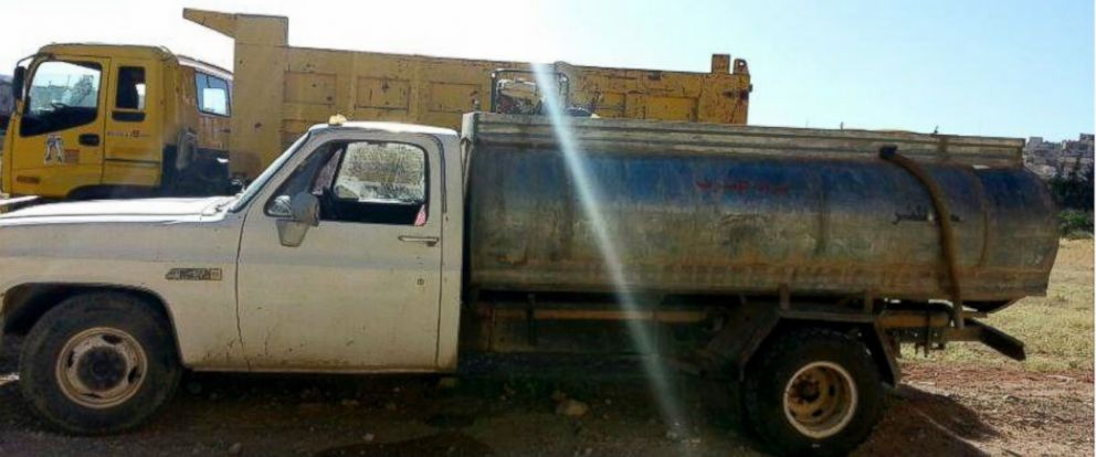 PHOTO: As the city faces water shortages, residents say al-Tals black market water business has swelled to more than 200 trucks.