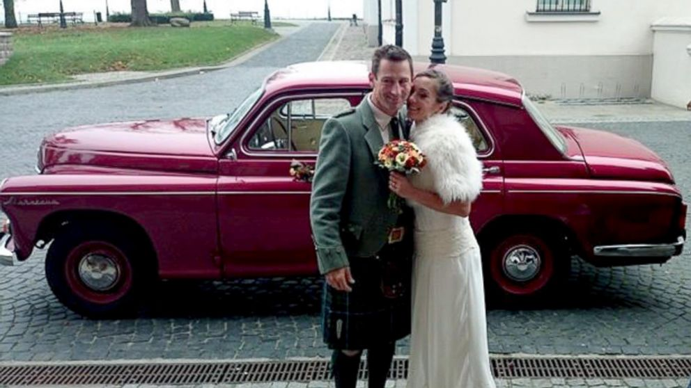 Dorota Bankowska and new husband James Abbott on their wedding day.