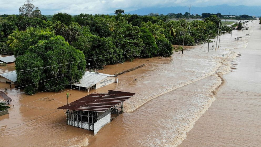 More heavy rain expected in parts of Central America already flooded by Eta, Iota