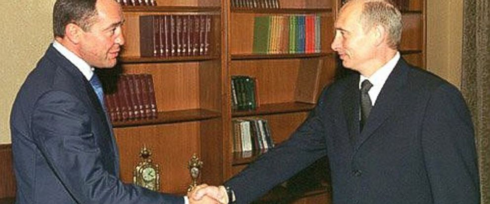 PHOTO:President Putin is seen with then-Media Minister Mikhail Lesin in this undated file photo.