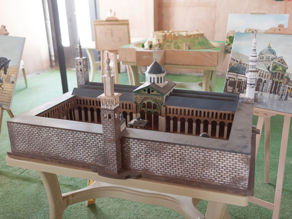 PHOTO: Damascuss Umayyad Mosque is one of the miniature replicas displayed at the community centre.