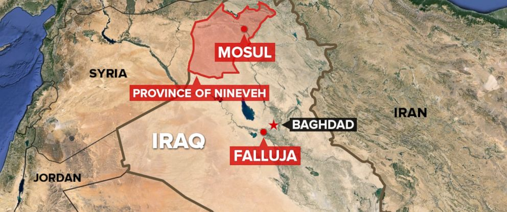 The Islamic State of Iraq and Syria (ISIS) has taken over much of the Iraqi province of Nineveh and the city, Mosul. Last year, they took control of Falluja.