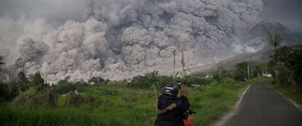 Villages covered in ash after volcano erupts in Indonesia ABC News