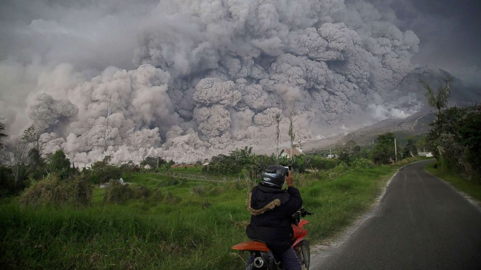 Villages covered in ash after volcano erupts in indonesia abc news stopboris Gallery