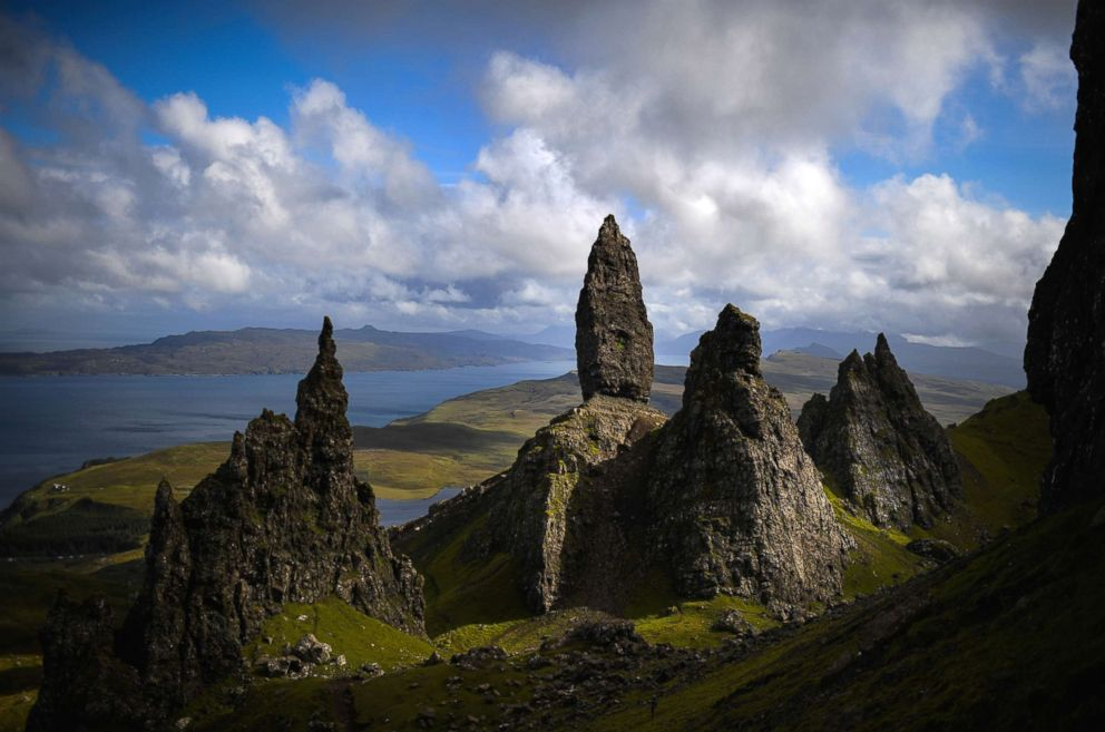 PHOTO: Tourists visit The Storr on the Isle of Skye, Aug.17, 2017 in Portree, Scotland.