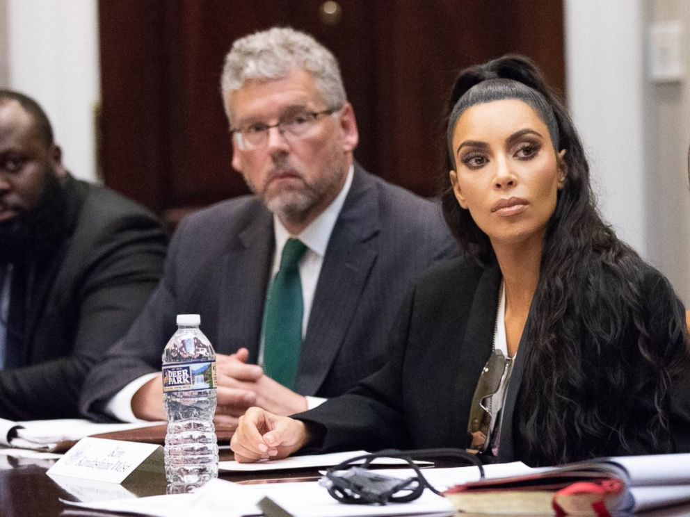 PHOTO: Kim Kardashinan shared photos on Twitter of her second visit to the White House on Wednesday, Sept. 5, 2018, where she attended a listening session headed by Jared Kushner about prison reform.