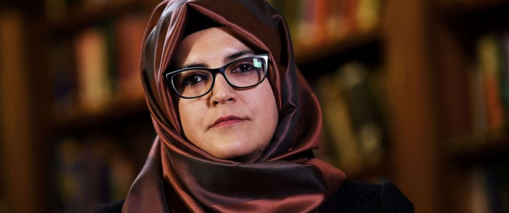 PHOTO: Hatice Cengiz, fiancee of slain Saudi journalist Jamal Khashoggi, is seen during an interview with Reuters in London, Oct. 29, 2018.