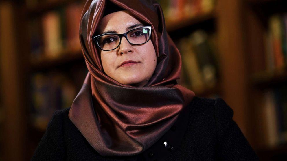 Hatice Cengiz, fiancee of slain Saudi journalist Jamal Khashoggi, is seen during an interview with Reuters in London, Oct. 29, 2018.