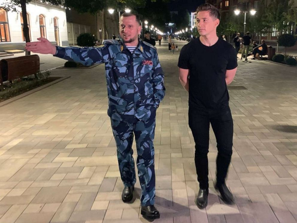 PHOTO: ABC News James Longman spoke with Apti Alaudinov, the head of police in Chechnya, a Russian republic that has allegedly purged LGBTQ people over the last two years.