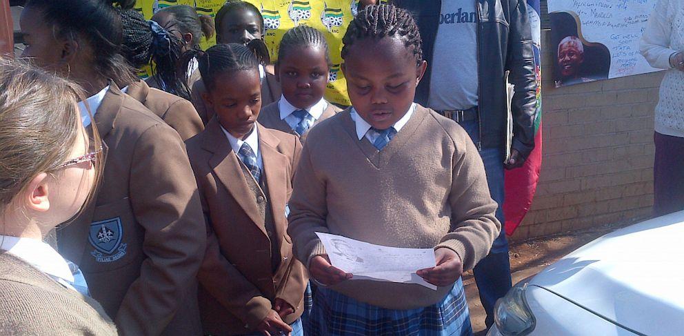 PHOTO: Neo Malahla, 9, letter to Nelson Mandela