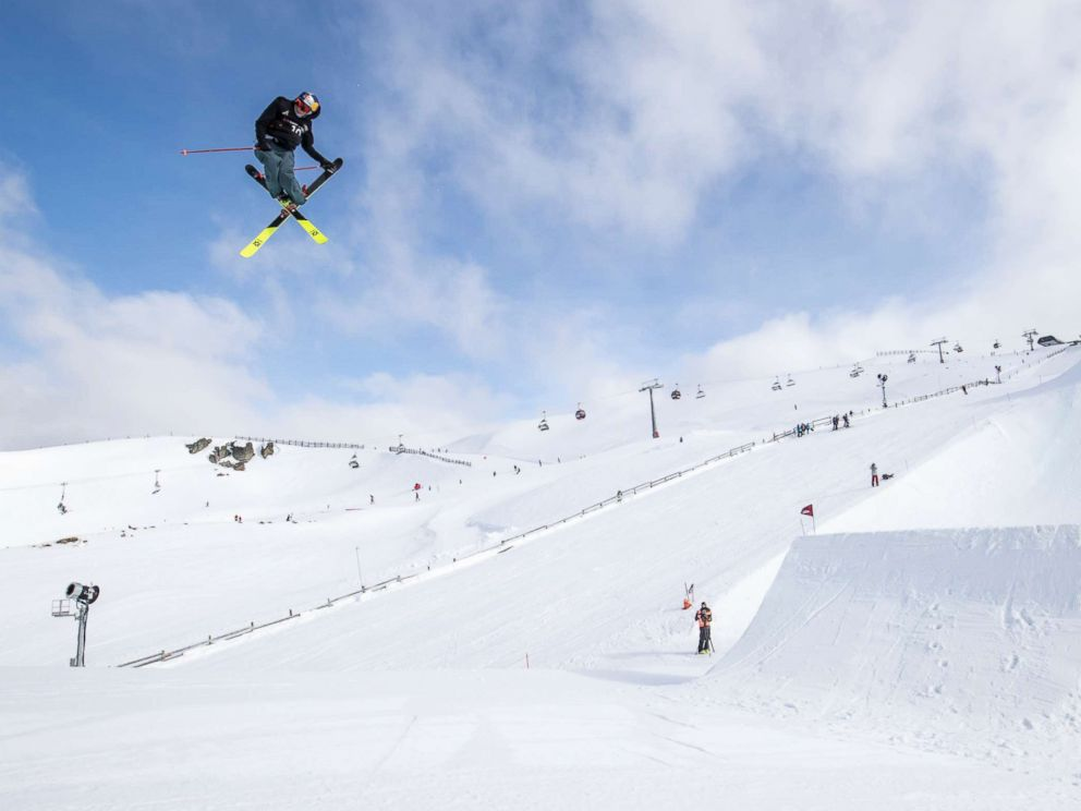 PHOTO: Nick Goepper performs in the mens ski slopestyle during the Winter Games at Cadrona Alpine Resort, New Zealand on Aug. 26, 2017.
