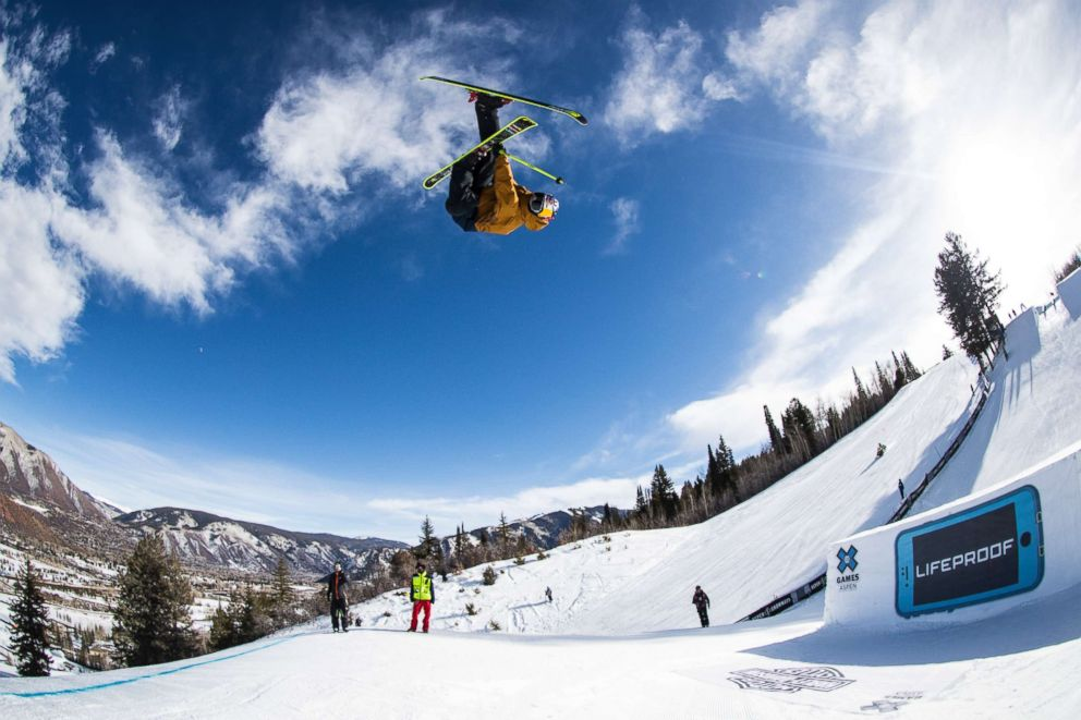PHOTO: Nick Goepper performs during Mens Ski Slopestyle at Winter X 2018 in Aspen, Colo., on Jan. 25, 2018.
