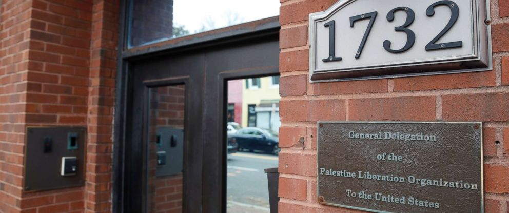 PHOTO: The Washington D.C. office of the Palestine Liberation Organization, Nov. 18, 2017. The U.S. has notified the Palestinians its closing their mission, Sept. 10, 2018, the latest in a series of American blows to the Palestinians.