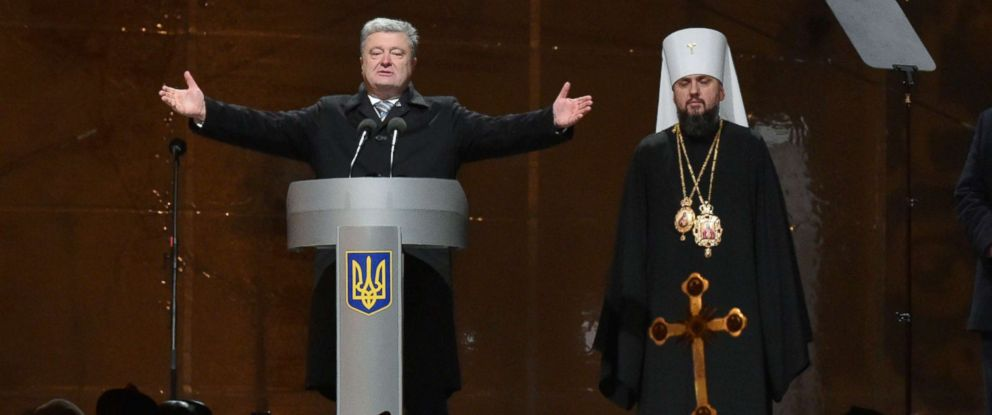 PHOTO: A historic council of Orthodox bishops in Kiev created a Ukrainian church independent from Russia, Ukrainian President Petro Poroshenko announced on Dec. 15, 2018.