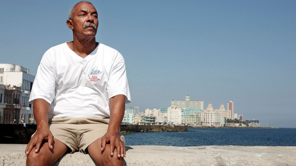 Charlie Hill, on the wall of the coastal Malecon Avenue in Havana, Cuba, May 5, 2007.