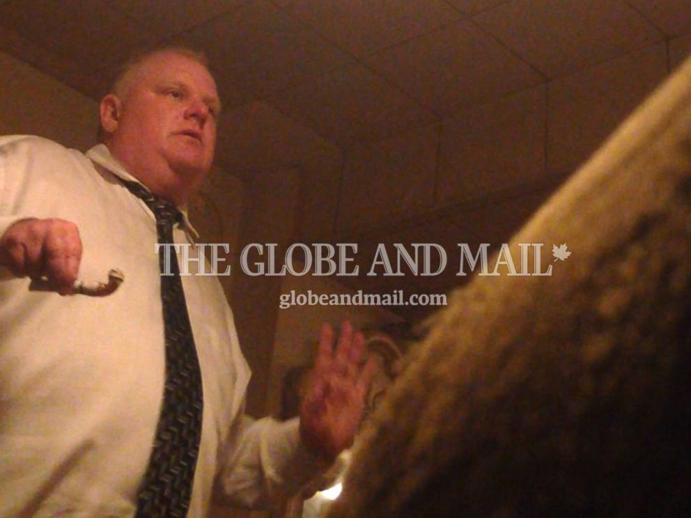 PHOTO: Toronto Mayor Rob Ford is seen in a video surreptitiously shot by a self-professed drug dealer, released April 30, 2014.