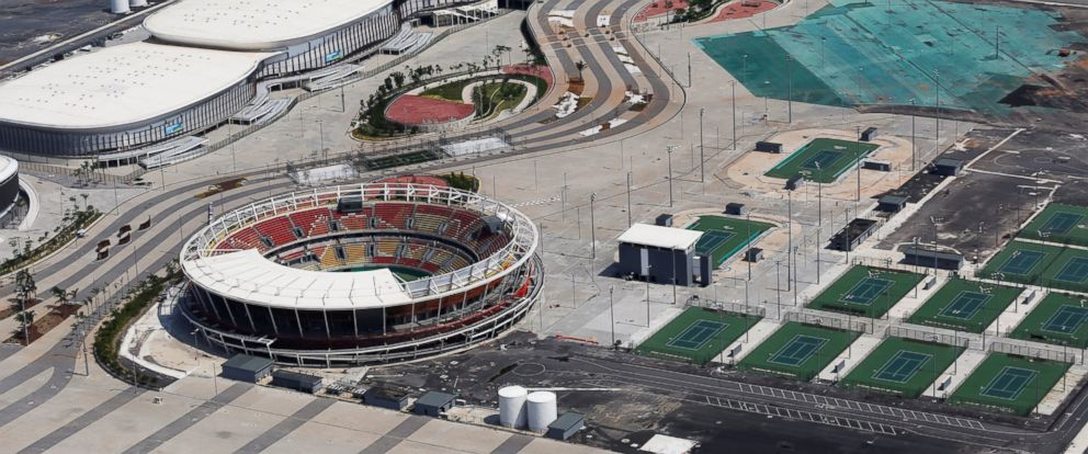 PHOTO: An aerial view shows the Olympic park which was used for Rio 2016 Olympic Games, in Rio de Janeiro, Brazil, Jan. 15, 2017.