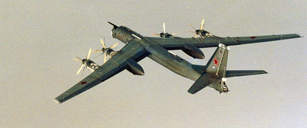 PHOTO: A Russian Tupolev Tu-95 plane is photographed by the Norwegian Air Force in international waters outside the coast of Norway, Aug. 17, 2007.