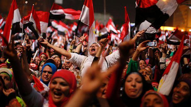 PHOTO: Egyptians cheer over coup ousting President Mohammed Morsi