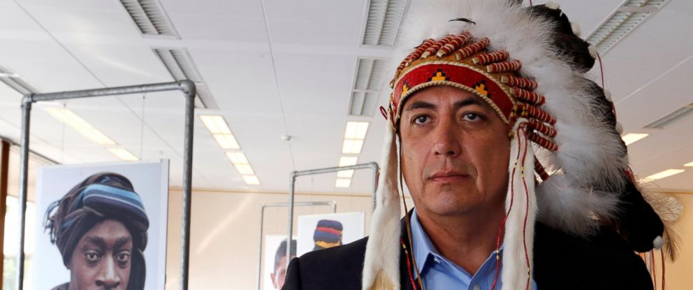 PHOTO: Dave Archambault II, chairman of the Standing Rock Sioux tribe, after his speech against the Energy Transfer Partners Dakota Access oil pipeline during the Human Rights Council at the United Nations in Geneva on Sept. 20, 2016.