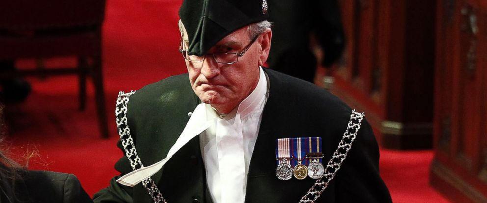 PHOTO: Sergeant-at-Arms Kevin Vickers is pictured in the Senate chamber on Parliament Hill in Ottawa in this file photo, June 3, 2011.